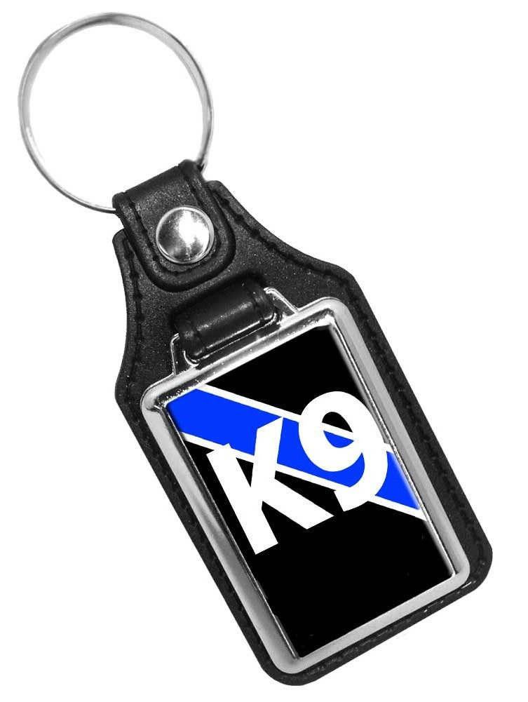 Police Key Chain Thin Blue Line Canine K9 Unit