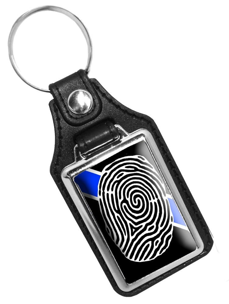 Police Key Chain Crime Scene Investigator Fingerprint
