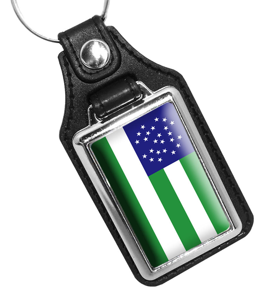 Police Key Chain New York City Police Department Flag