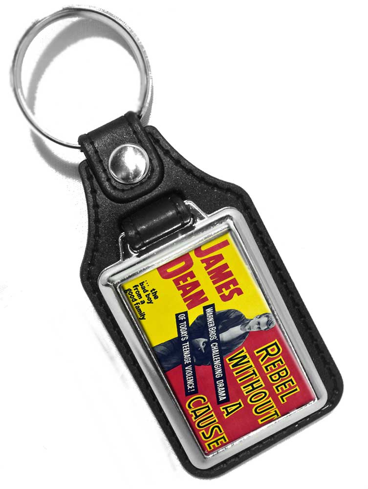 James Dean Rebel without a Cause Design Faux Leather Key Ring