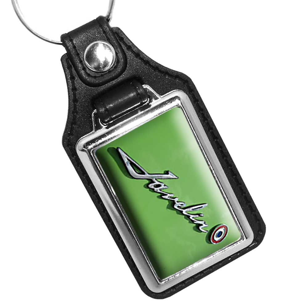 Javelin Emblem Faux Leather Key Ring