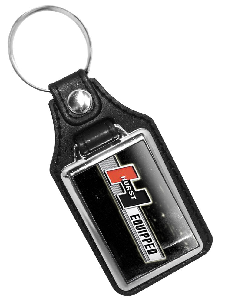 Hurst Equipped Emblem Faux Leather Key Ring