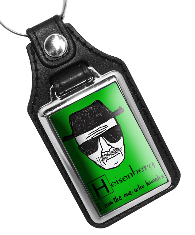 Heisenberg I am The One Who Knocks Breaking Bad Faux Leather Key Ring