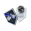 Thin Blue Line Police Sheriff Bicycle Bike Patrol Unit Lapel Pin