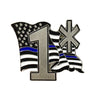 Thin Blue Line Law Enforcement American Flowing Flag One Ass To Risk Lapel Pin