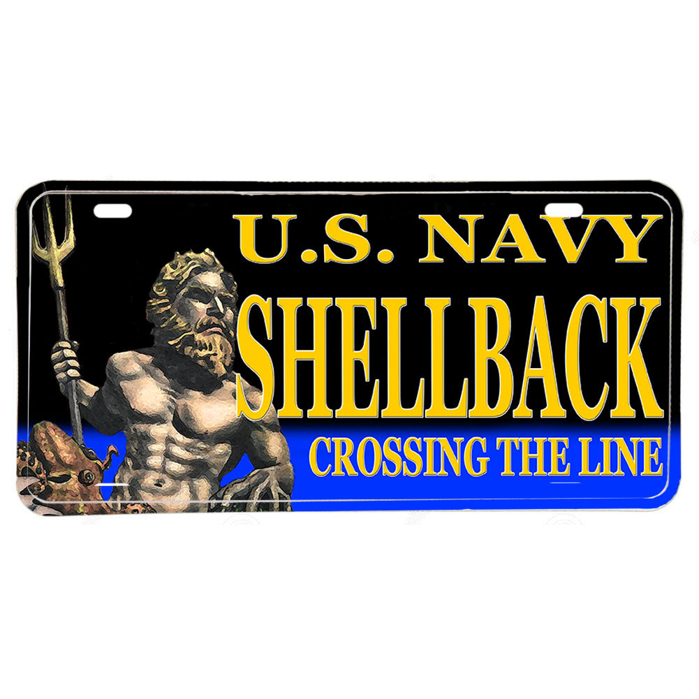 United States Navy Shellback Crossing the Line Aluminum License Plate