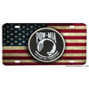 American Flag POW You Are Not Forgotten Aluminum License Plate