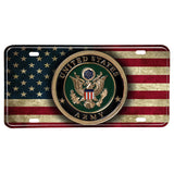 United States Army Distressed American Flag Aluminum License Plate