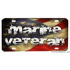 United States Marine Corps Veteran Flowing American Flag Aluminum License Plate
