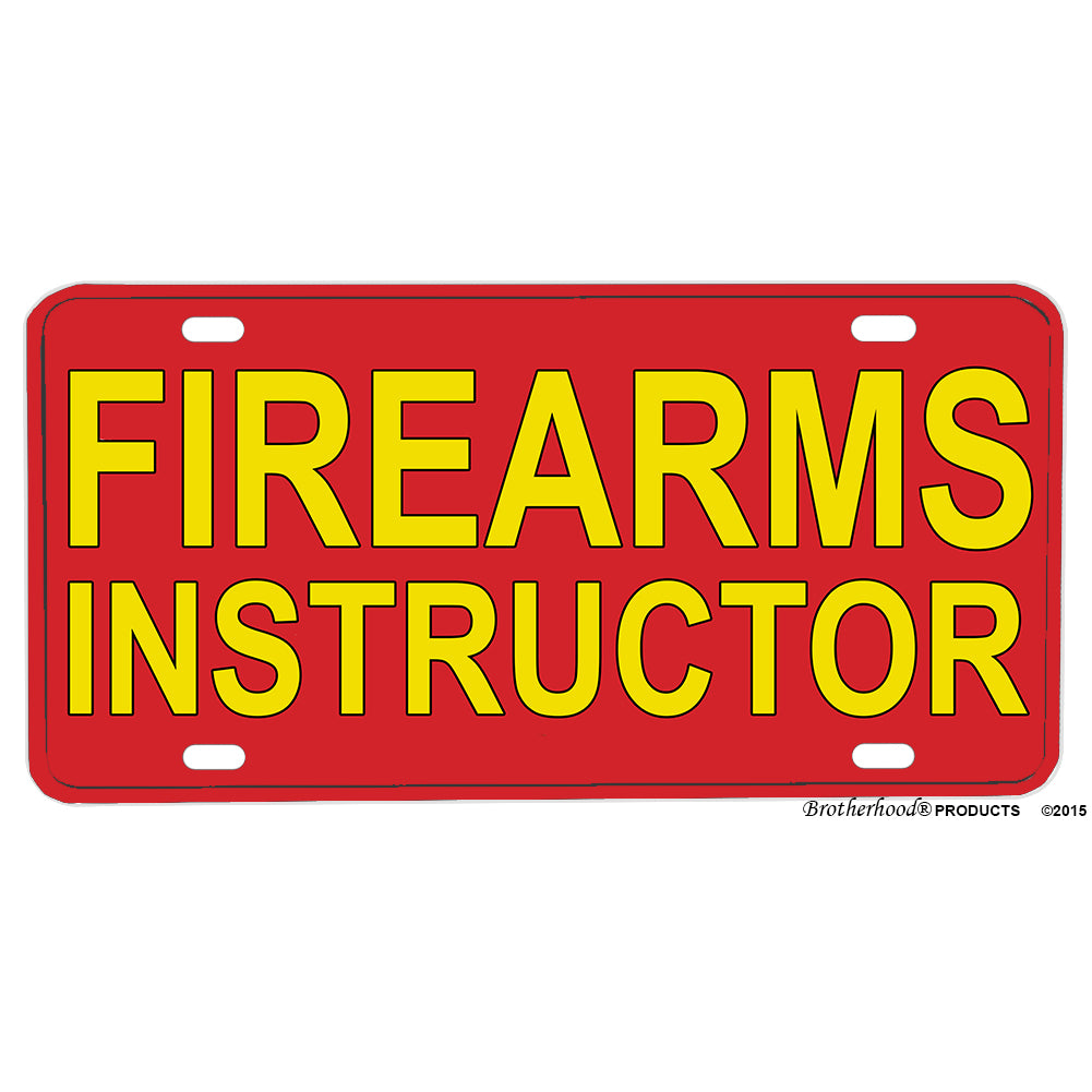 Law Enforcement Military Firearms Instructor Aluminum License Plate