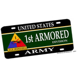 1st Armored Division United States Army License Plate Old Ironsides