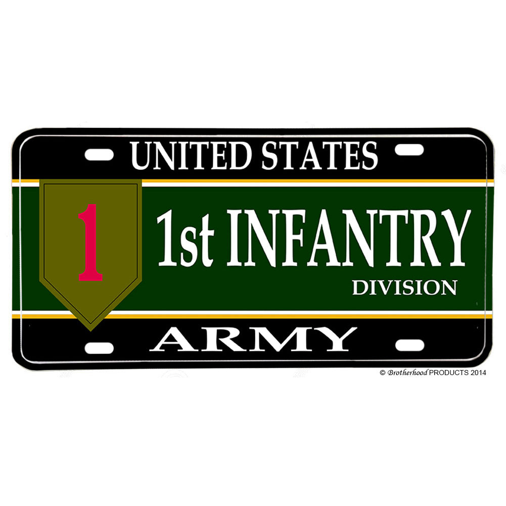 United States Army 1st Division The Big Red One Aluminum License Plate