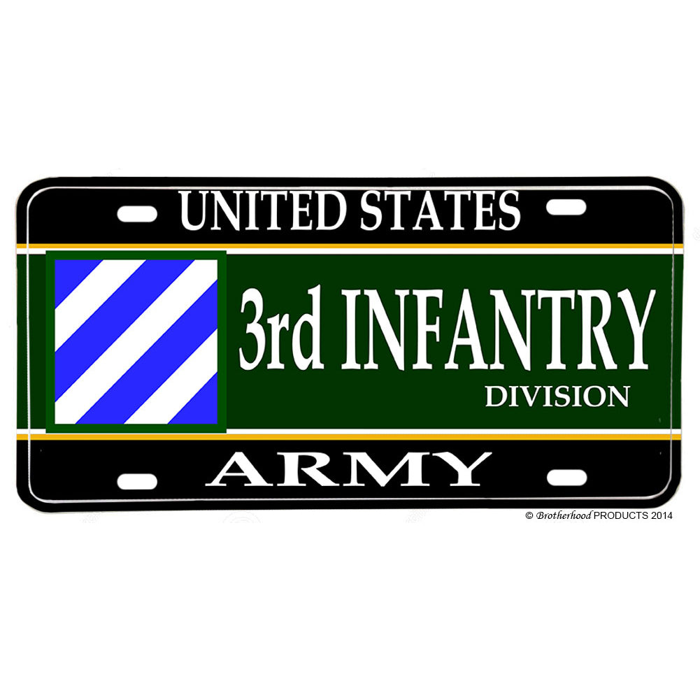 United States Army 3rd Division The Rock of the Marne Aluminum License Plate