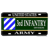 US Army 3rd Division The Rock of the Marne Aluminum License Plate