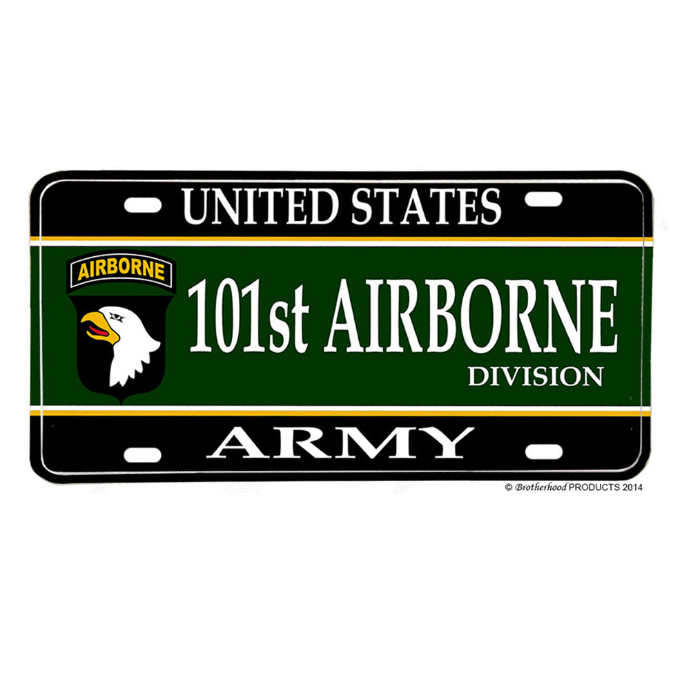 United States Army 101st Airborne Division Aluminum License Plate