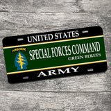 United States Army Special Forces Command Green Berets License Plate