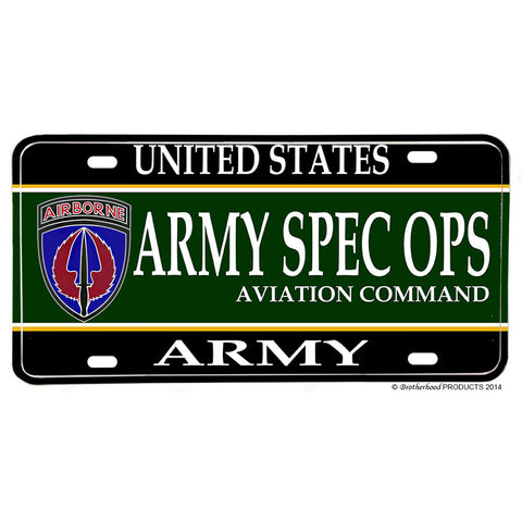 United States Army Special Operations Aviation Command Aluminum License Plate