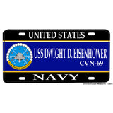 United States Navy USS Dwight D. Eisenhower CVN-69 Aluminum License Plate