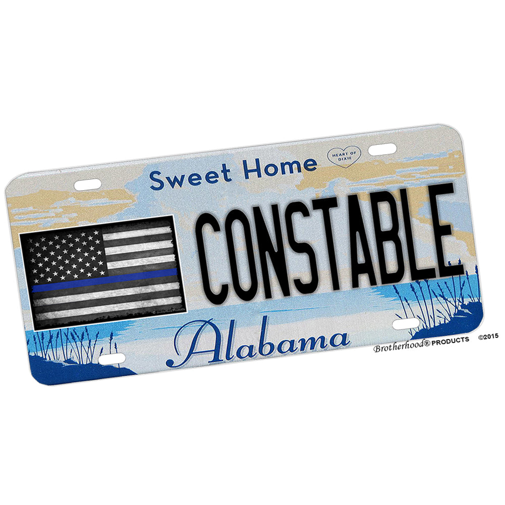 Alabama Sweet Home Alabama Constable License Plate
