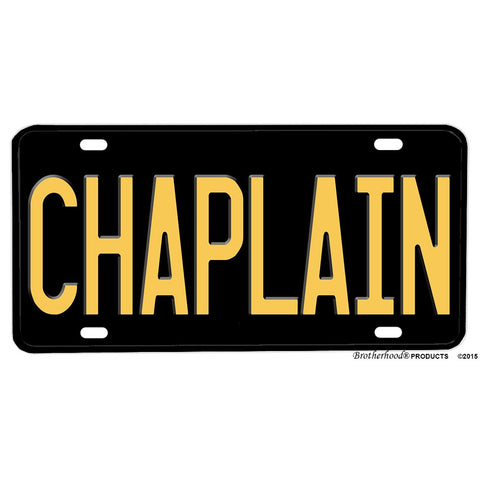Police Sheriff Chaplain Law Enforcement Aluminum License Plate