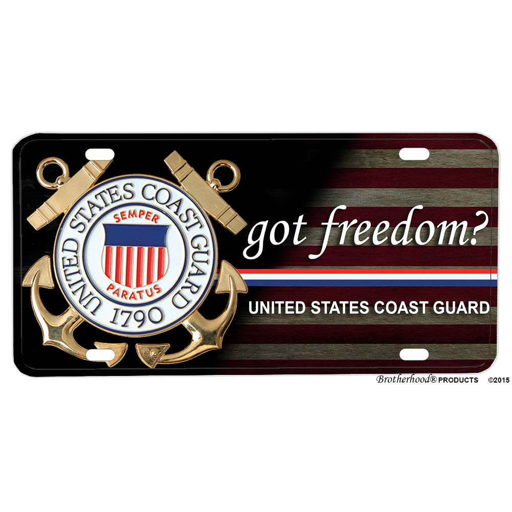 United States Coast Guard Got Freedom Design Aluminum License Plate