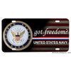 United States Navy Got Freedom Flag Design Aluminum License Plate