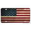Distressed Red White and Blue American Flag Aluminum License Plate
