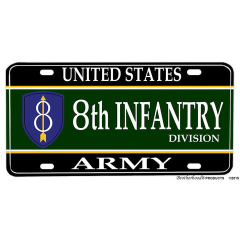 United States Army Eighth Infantry Pathfinder Design Aluminum License Plate