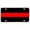 Firefighter Thin Red Line Black Red Black Design Aluminum License Plate
