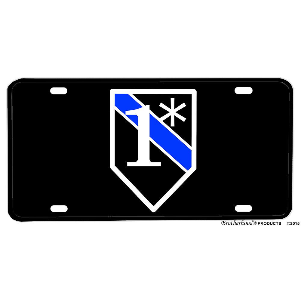 Law Enforcement Police Sheriff One Ass To Risk Thin Blue Line Aluminum License Plate
