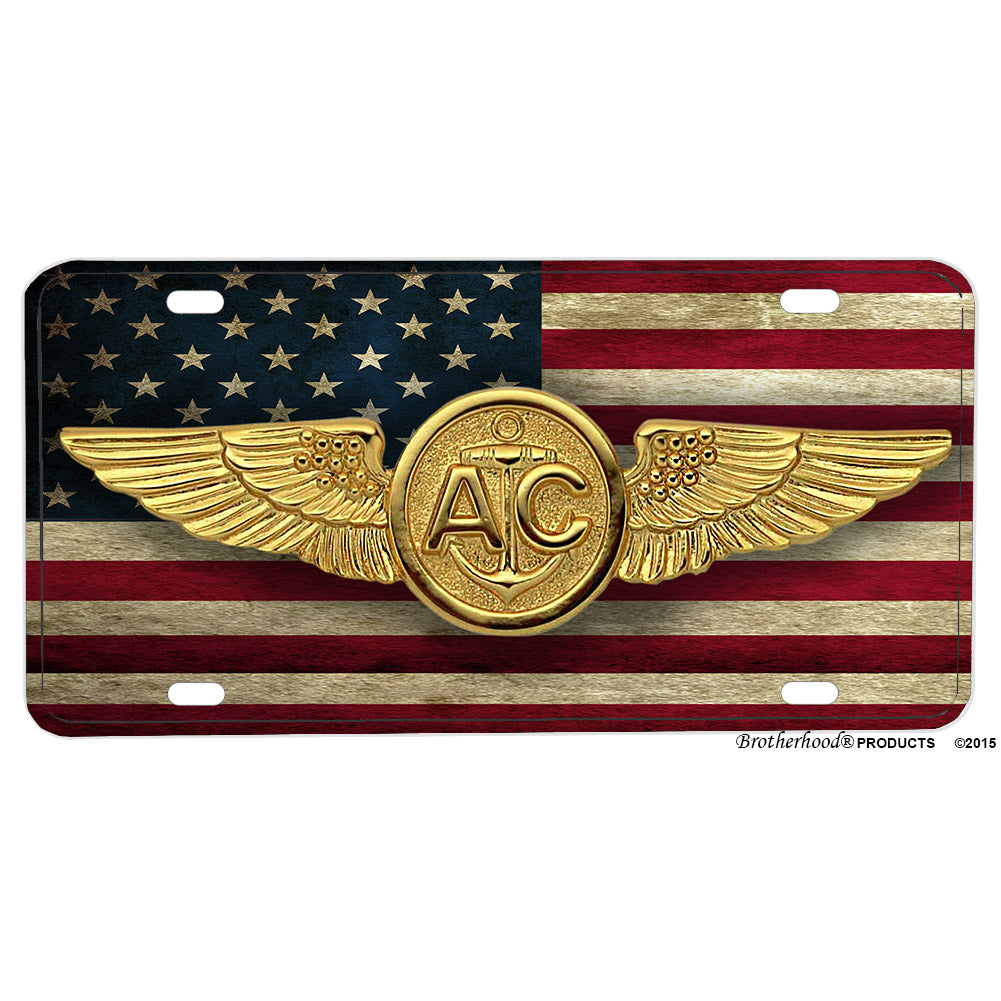 United States Navy Marines Coast Guard Air Crew Badge Aluminum License Plate