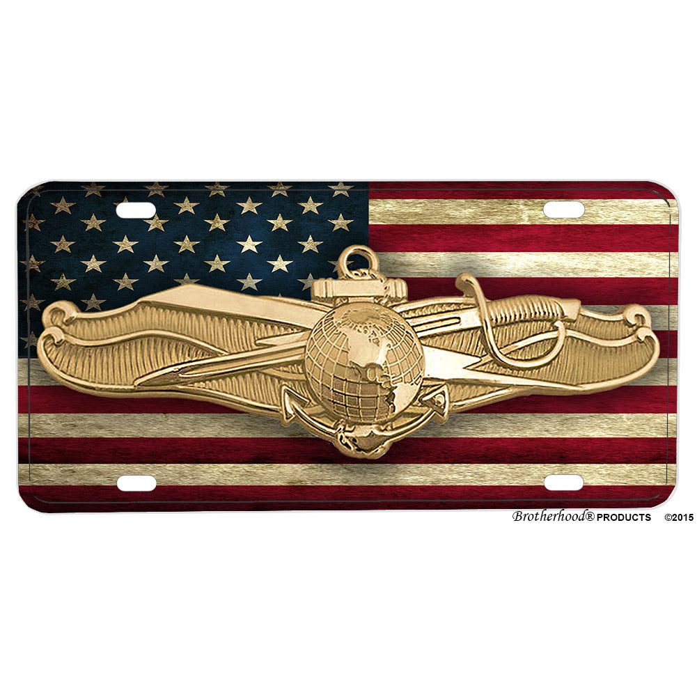 United States Navy Officer Information Dominance Warfare Badge Aluminum License Plate