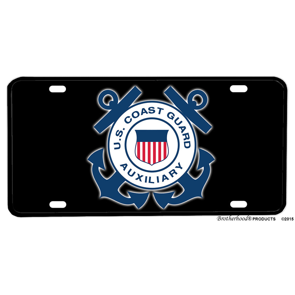United States Coast Guard Auxiliary Emblem Design Aluminum License Plate