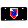 Dive Flag with Paramedic Star of Life Aluminum License Plate