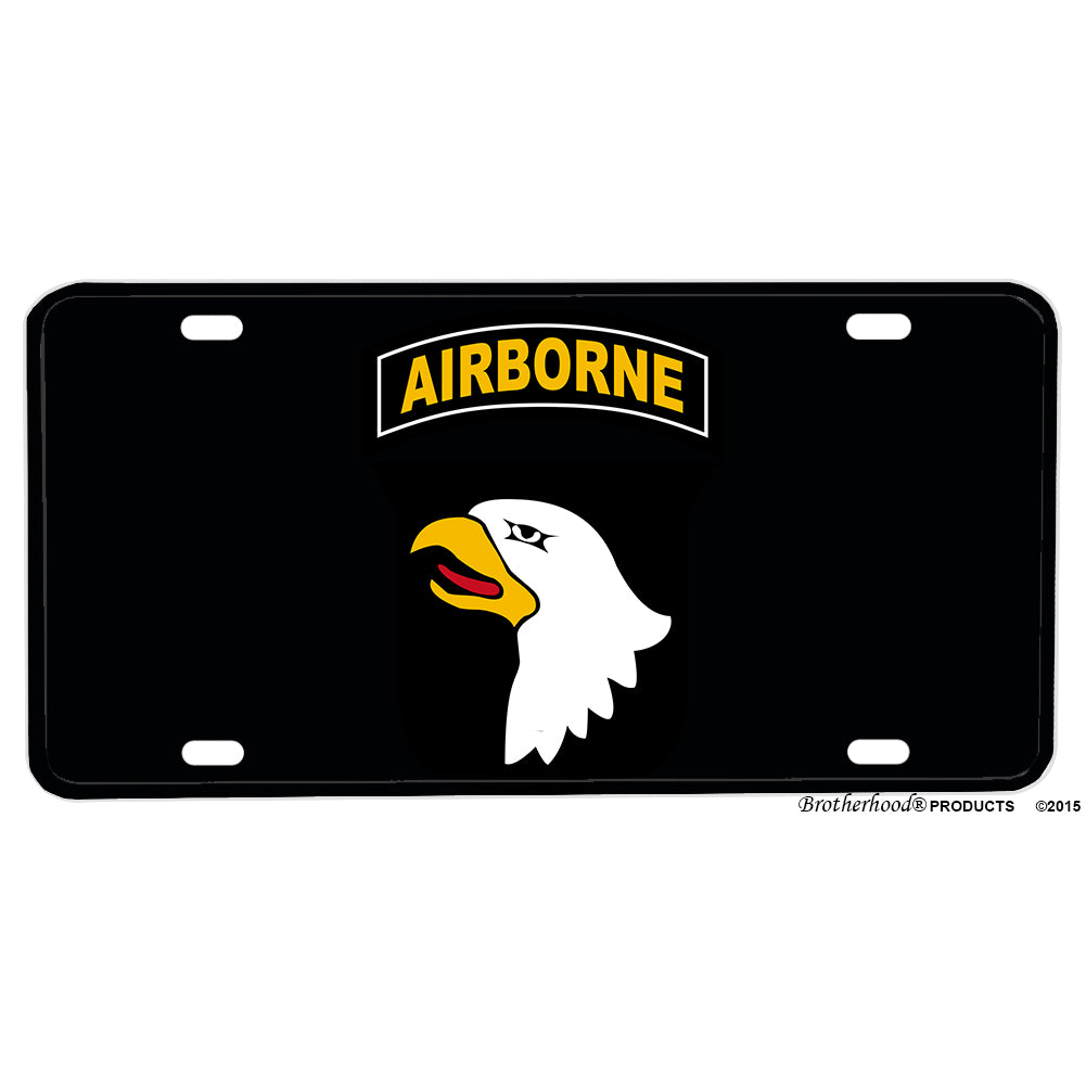 United States Army 101st Airborne Division Screaming Eagles Aluminum License Plate