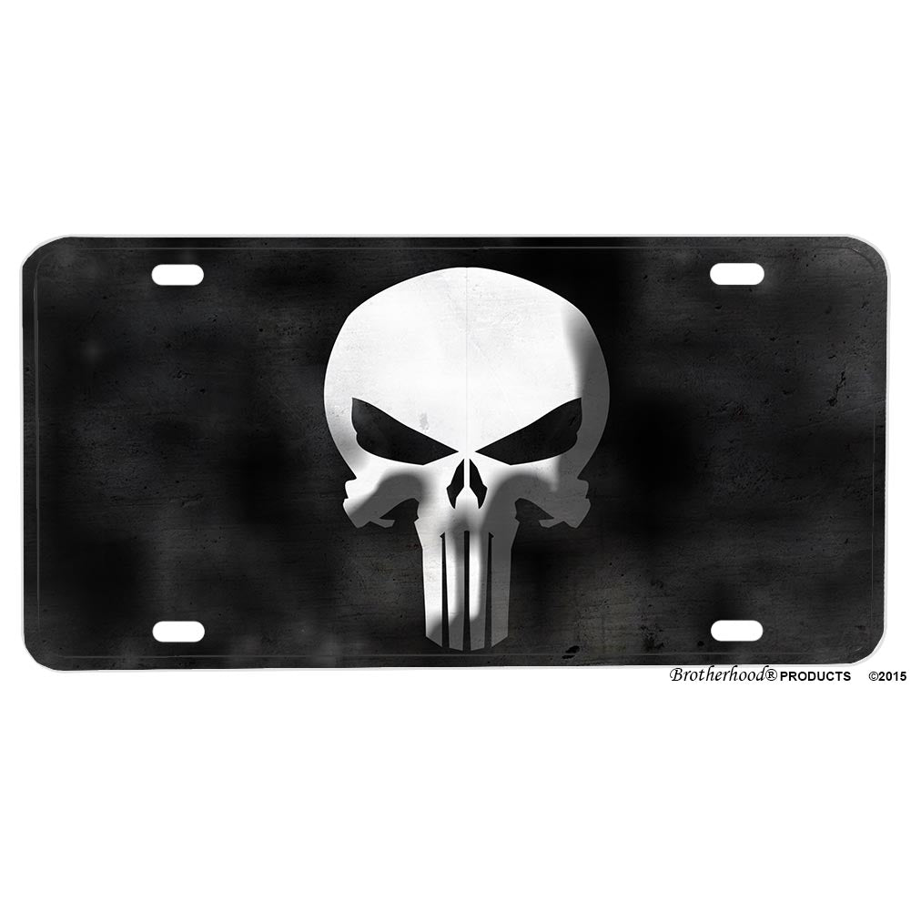Law Enforcement Punisher Skull Police Sheriff Aluminum License Plate
