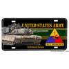 United States Army First Armored Division Old Ironsides Aluminum License Plate