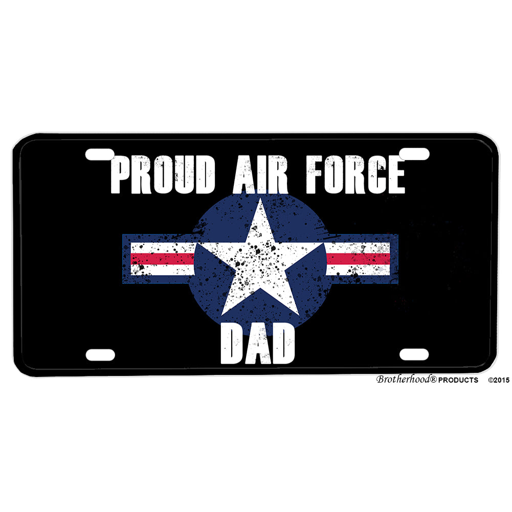 United States Air Force Proud Air Force Dad Aluminum License Plate
