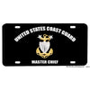 United States Coast Guard Master Chief Petty Officer Emblem Design Aluminum License Plate