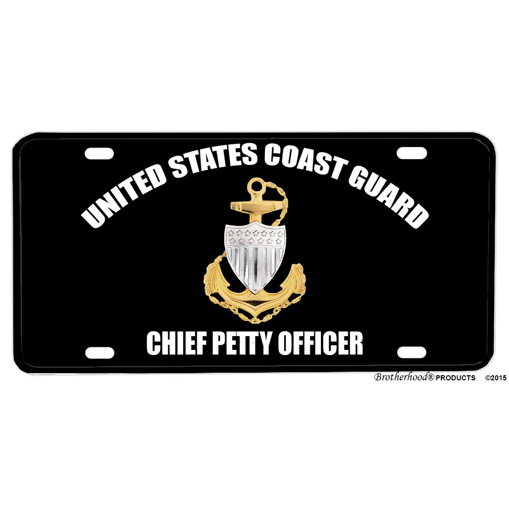 United States Coast Guard Chief Petty Officer Emblem Design Aluminum License Plate
