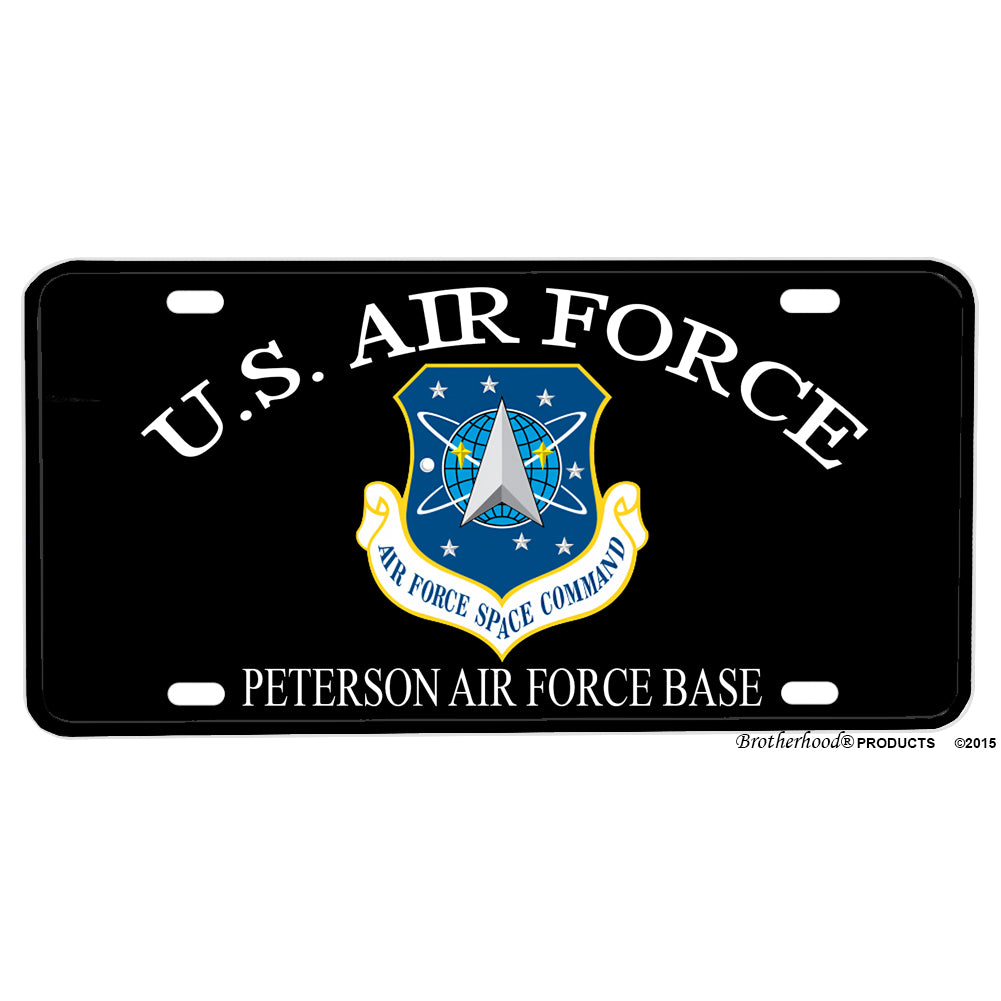 United States Air Force Space Command Peterson AFB Aluminum License Plate
