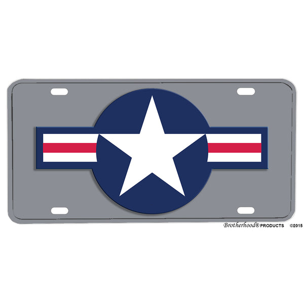 United States Air Force Roundel Design Aluminum License Plate