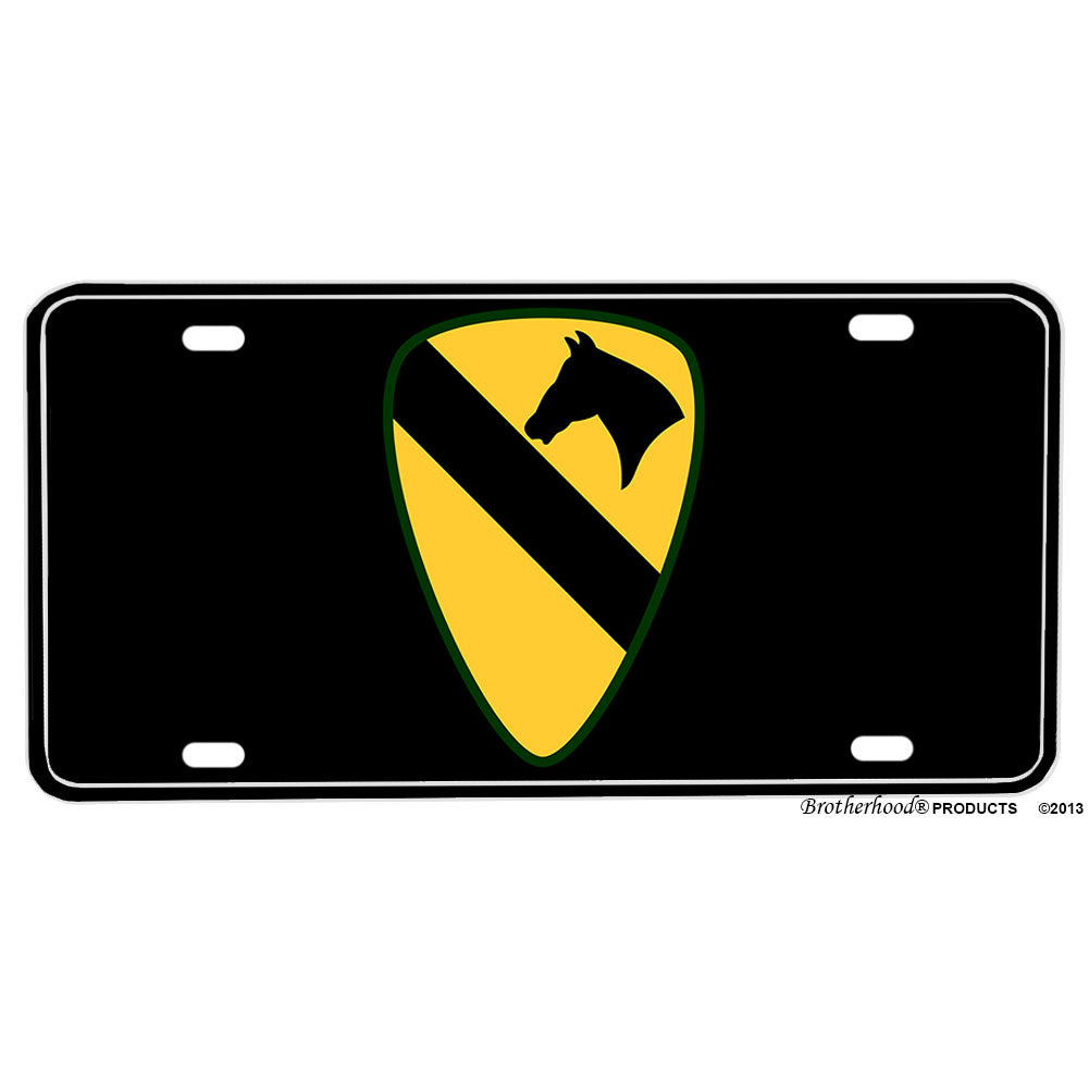 United States Army 1st Cavalry Division The First Team Aluminum License Plate