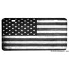 Subdued Black and Gray American Flag Design Aluminum License Plate