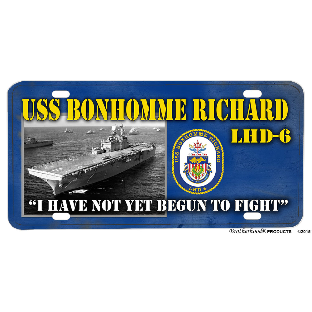 United States Navy USS Bonhomme Richard LHD-6 Aluminum License Plate