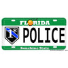 Florida Thin Blue Line Flag or One Ass To Risk 1* Aluminum License Plate