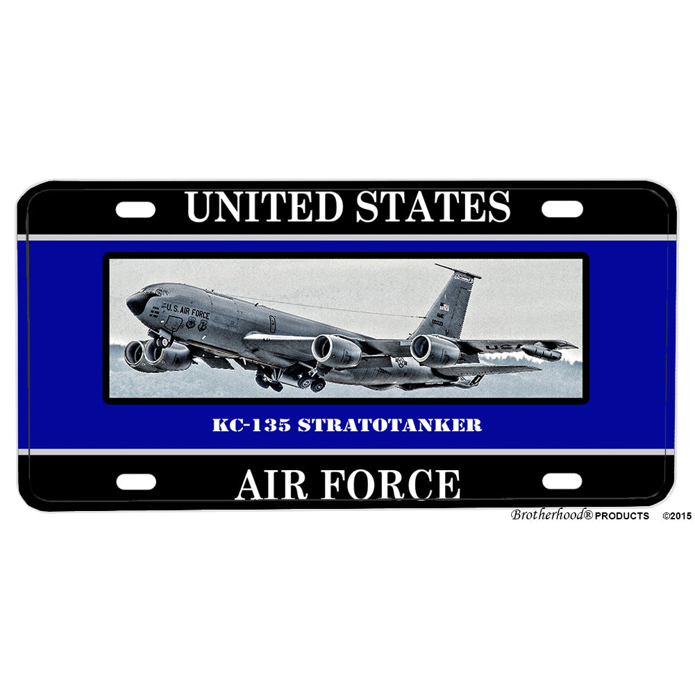United States Air Force KC-135 Stratotanker Aluminum License Plate