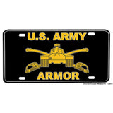 United States Army Armor Crossed Sabers M26 Pershing Tank Aluminum License Plate