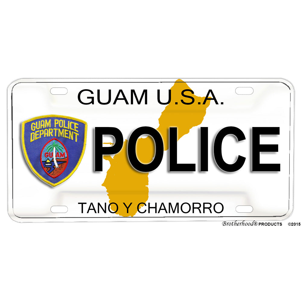 Guam Police Department Tano Y Chamorro POLICE Novelty Aluminum License Plate