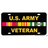 United States Army Vietnam Veteran Ribbons Aluminum License Plate